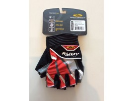 Cyklistické rukavice Rudy Project Grinder red/white/black