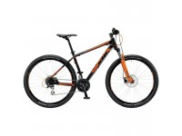 Horské kolo KTM Chicago 29.24 DISC H 2019 Black matt (orange)