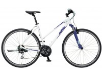Dámské krosové kolo KTM LIFE ONE 24 2019 White matt (darkblue+mint)