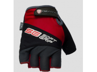 Cyklistické rukavice Poledník Soft grip, red/black