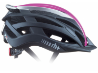 Cyklistická přilba rh+ Z2in1, shiny pink fluo/matt dark silver/matt black